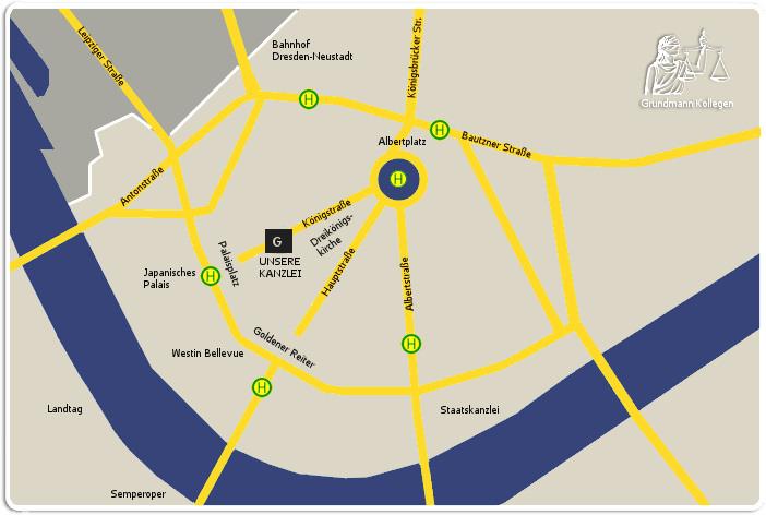 Karte Kanzlei Dresden